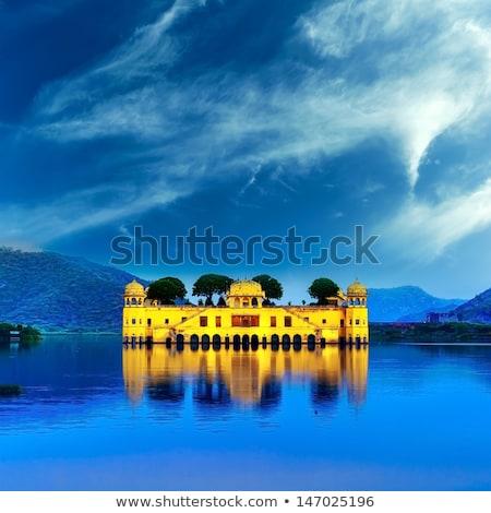 saray · göl · Hindistan · manzara · doğa · taş - stok fotoğraf © mikko