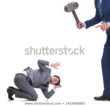 stressed businessman isolated on white stock photo © dacasdo