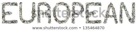 europeu · 100 · palavra · fora · isolado - foto stock © eldadcarin