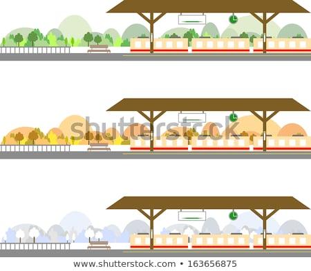 train station platform in snow  Stock photo © meinzahn