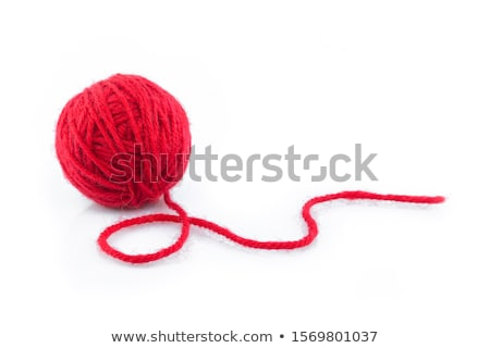 Red ball of yarn stock photo © grafvision