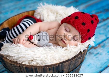 Pequeno menino joaninha seis máscara Foto stock © zhekos