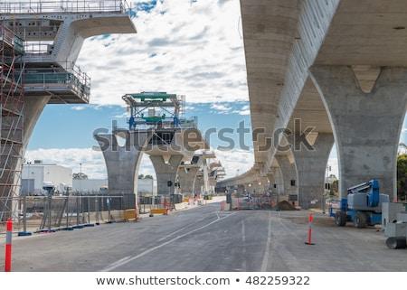 Mostów budowy kolej żelazna niebo pracy Zdjęcia stock © ABBPhoto