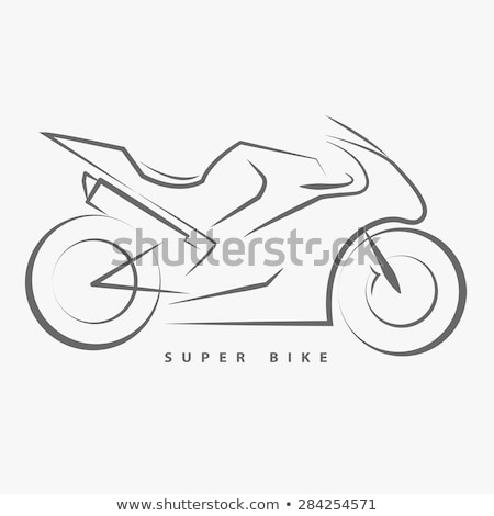 Sketch of modern motorcycle. Vector illustration Stock photo © leonido
