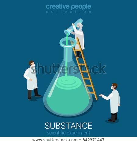 isometric style icons for chemistry stock photo © ildogesto