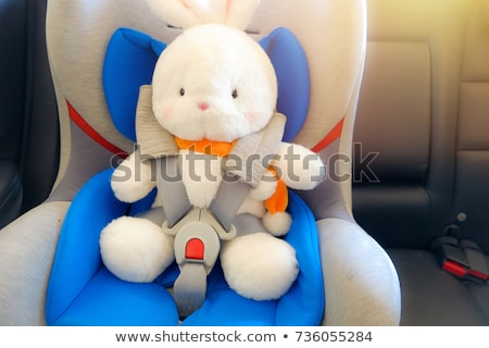 child in booster seat for a car in light background Stock photo © gewoldi