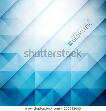 Simple blue background with rhombus stock photo © kloromanam