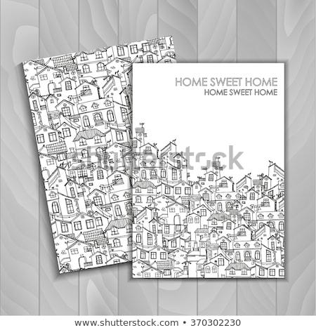 conjunto · desenho · animado · casas · eps10 · casa · projeto - foto stock © Larser