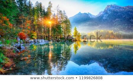 Spektakularny jesienią jezioro krajobraz piękna kolorowy Zdjęcia stock © gophoto