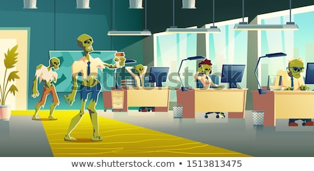 Office Zombie Cartoon Stock photo © fizzgig