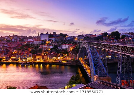 old town river area of porto portugal at sunset stock photo © travelphotography