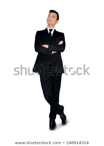 pensive business man with feet crossed Stock photo © feedough