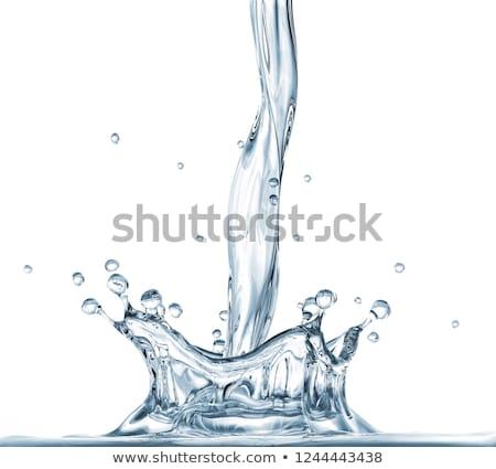 su · yüzeyi · dalgalar · damla · mavi · eğim · beyaz - stok fotoğraf © taden