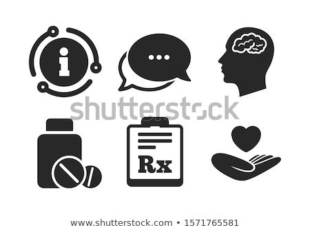 Stock fotó: Rx - Pharmacy Symbol - Capsule Pills