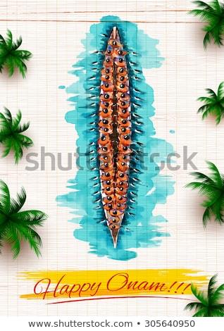 лодка гонка иллюстрация спорт скорости обои Сток-фото © vectomart