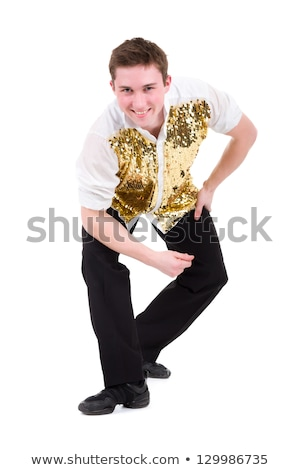 friendly smiling dancer showing some movements Stock photo © stepstock