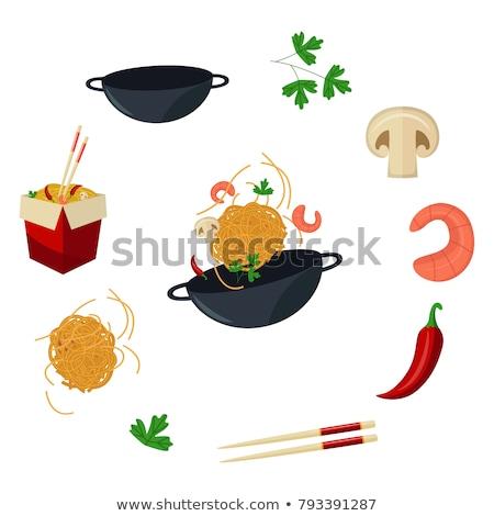 Champignons plaat gekookt geserveerd Stockfoto © nito