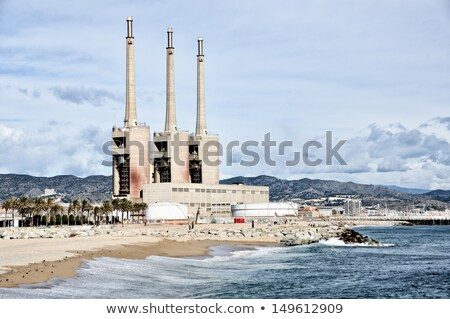 factory located at the beach stock photo © elwynn