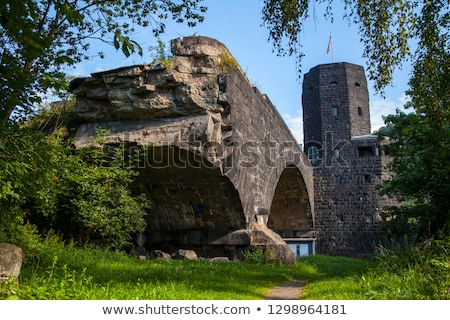 Remains of the Ludendorff Bridge  and Rhine River in Remagen Stock photo © chrisdorney
