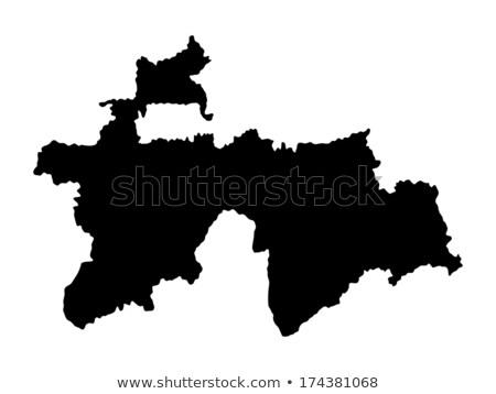 Preto Tajiquistão mapa administrativo cidade asiático Foto stock © Volina