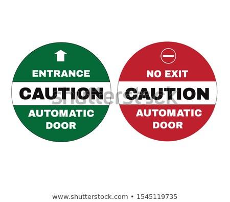 Avec prudence porte d'entrée horizontal photo Photo stock © tab62