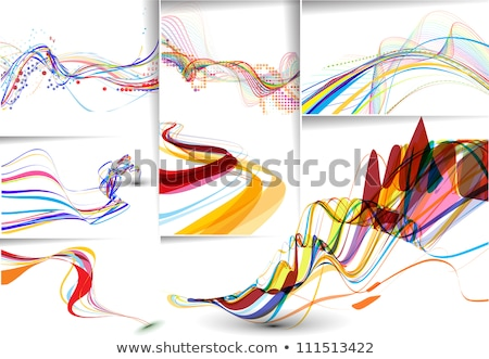 カラフル · 波 · 世界中 · 抽象的な · ビジネス · テクスチャ - ストックフォト © rioillustrator