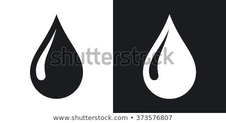 Wassertropfen Symbol Regen Drop Kristall Skizze Stock foto © tilo