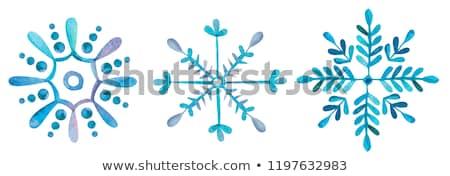 Acquerello fiocco di neve capodanno biglietto d'auguri design neve Foto d'archivio © alexmakarova