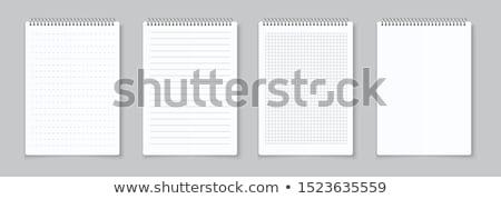Oldal jegyzetek fehér iroda iskola terv Stock fotó © oly5