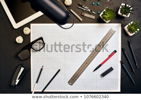 architecture on the table with tools and keys stock photo © tannjuska