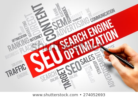 SEO -  Wordcloud Concept. Stock photo © tashatuvango