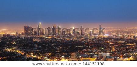 Сток-фото: Лос-Анджелес · облака · свет · фон · зеленый · синий