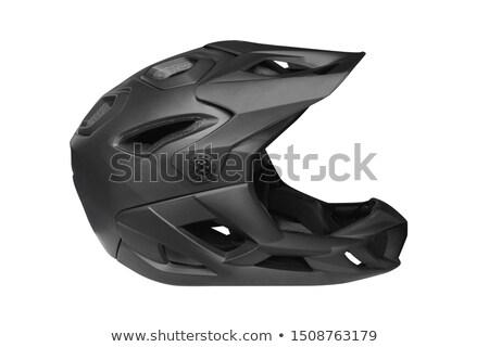 モトクロス 自転車 ヘルメット オレンジ オートバイ 眼鏡 ストックフォト © Kor
