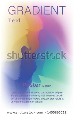 抽象的な · カラフル · 波 · グランジ · 行 · テクスチャ - ストックフォト © saicle