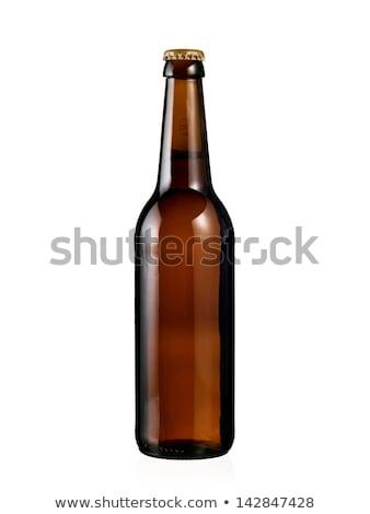 Brun verre bière bouteilles still life blanche Photo stock © jenbray