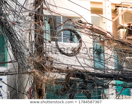 Telefon elektrik tel kutup sokak Stok fotoğraf © imagex