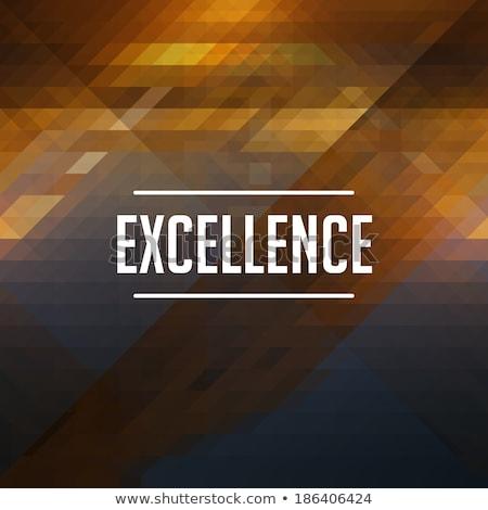 excellence concept on retro triangle background stock photo © tashatuvango