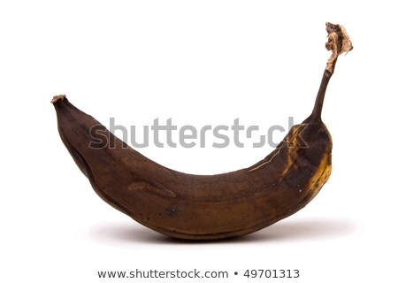 Brown Over Ripe and old Banana isolated against white background stock photo © nuiiko