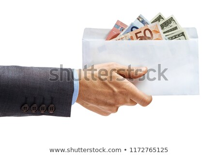man taking an envelope full of euro bills Stock photo © nito