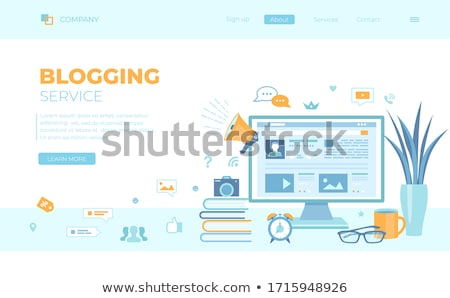 Seminário título livro internet azul preto Foto stock © tashatuvango