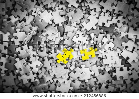 Keep it Simple on Yellow Puzzle. Stock photo © tashatuvango