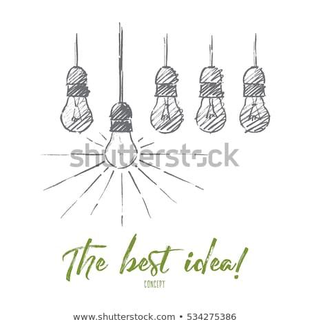 Migliore idea lampadine mano nero marcatore Foto d'archivio © ivelin
