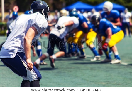 football · joueurs · action · balle · concurrence · courir - photo stock © oleksandro