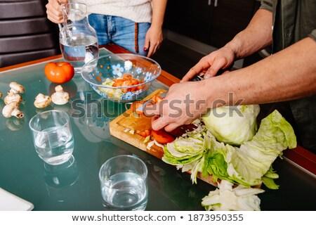Víz diétás zöldség étel egyensúly életstílus Stock fotó © M-studio