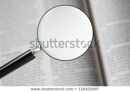 casa · negócio · lupa · informação · palavras - foto stock © frameangel