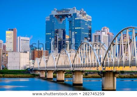 Osaka cielo edificio brumoso día Foto stock © photohome