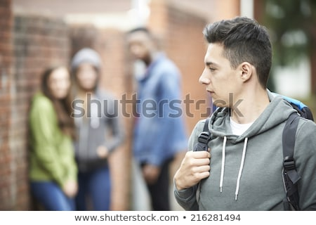 Teenage Boy Feeling Intimidated As He Walks Home Stock photo © HighwayStarz