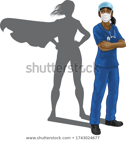 African American Super Hero Woman Stock photo © Kakigori