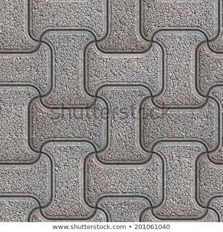Gray Granular Mosaic Paving Slabs. Stock photo © tashatuvango