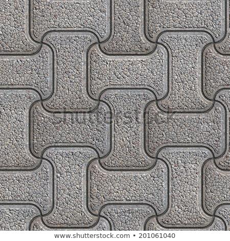 gray granular mosaic paving slabs stock photo © tashatuvango